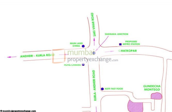 Gundecha Montego Location Map