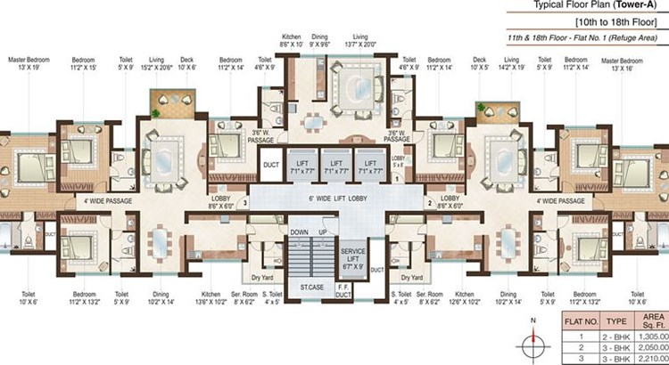 Beaumonde A Floor Plan I