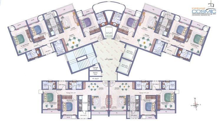 Evershine Cosmic Floor Plan