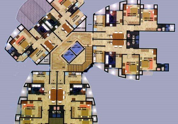 Skyline Villa A Wing Floor Plan
