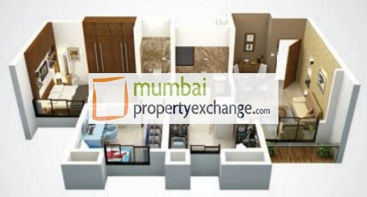 3D View 2bhk