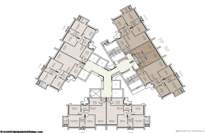 Oberoi Sky City Oberoi Sky City Typical Floor Plan Tower B (upto 34th flr)