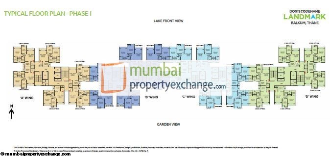 Dosti Codename Landmark Floor Plan