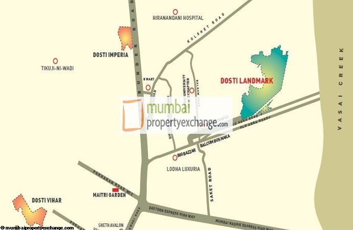 Dosti Codename Landmark Location Map