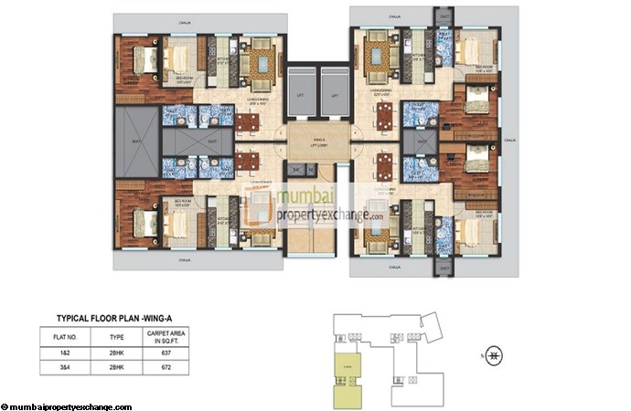 Spenta Alta Vista Floor Plan A wing