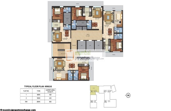 Spenta Alta Vista Floor Plan B wing