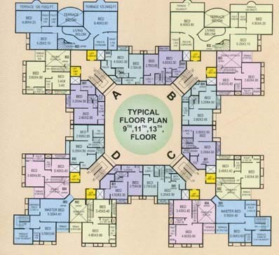 Silicon Towers 9 -11- 13 Floor Plan