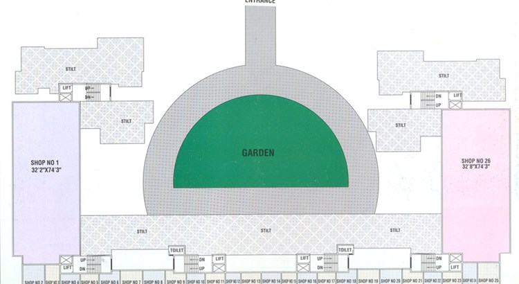Shree Ganesh Plaza-II Ground Floor Plan