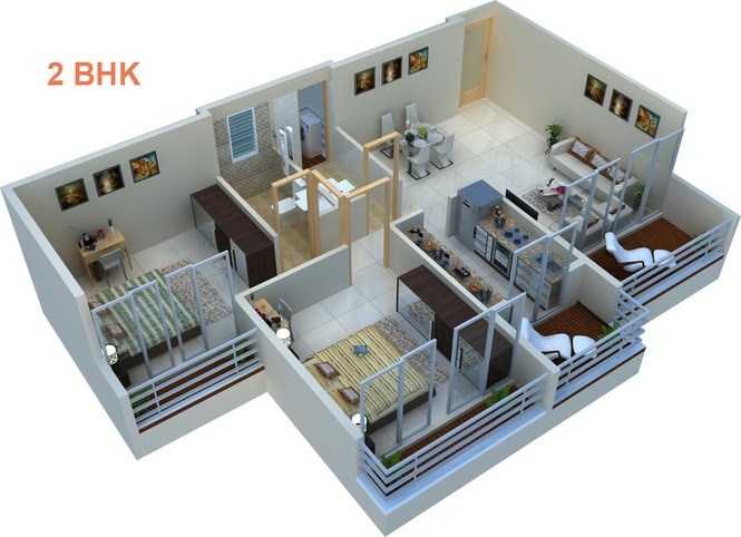 Floor Map 2BHK