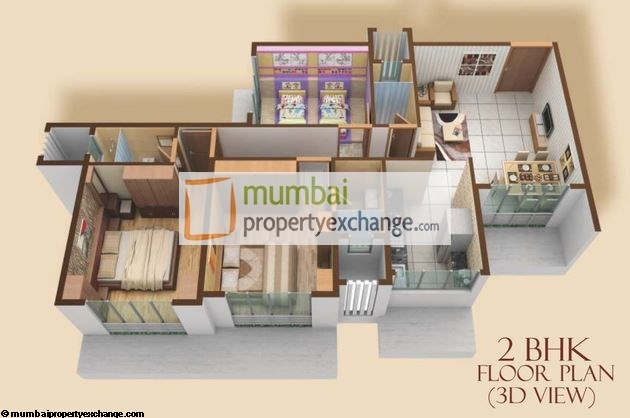 Madhuban Heights 2 BHK Floor Plan