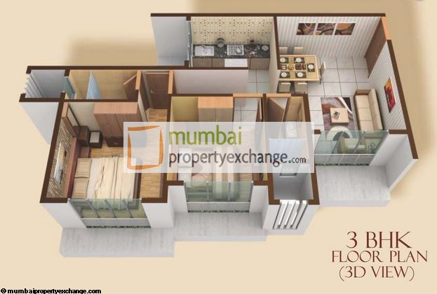 Madhuban Heights 3 BHK Floor Plan