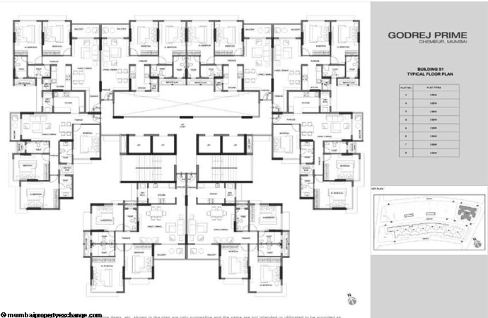 Godrej Prime Godrej Prime S1 Typical Floor Plan