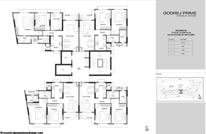 Godrej Prime Godrej Prime S6 Typical Floor Plan