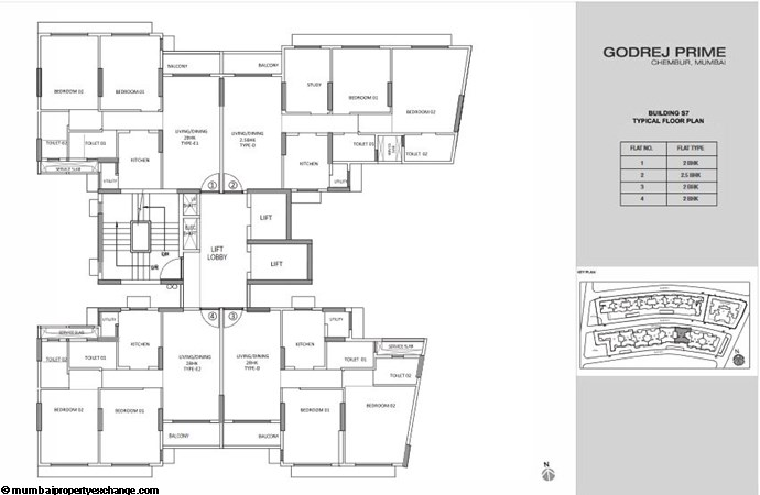 Godrej Prime Godrej Prime S7 Typical Floor Plan-1