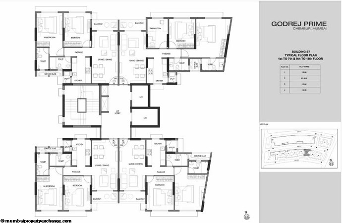 Godrej Prime Godrej Prime S7 Typical Floor Plan-2