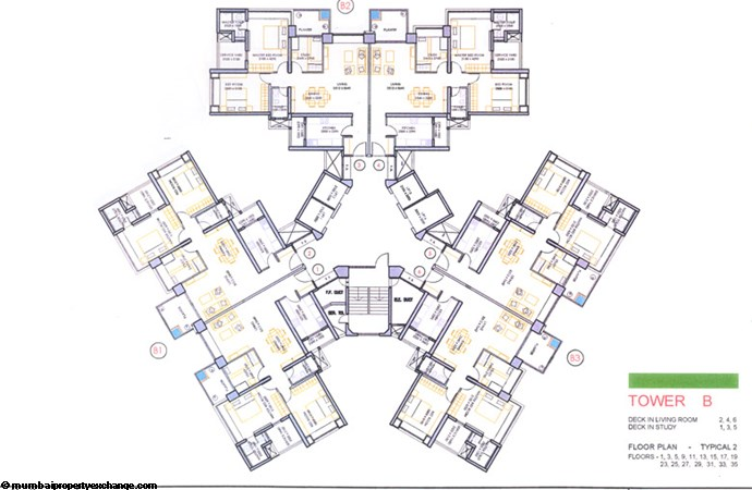 Oberoi Springs Floor Plan Wing B