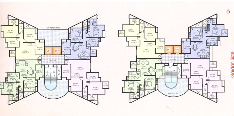 Vasundhara Typical Floor Plan