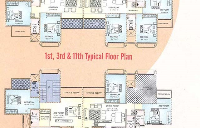 Palm Towers Floor Plans