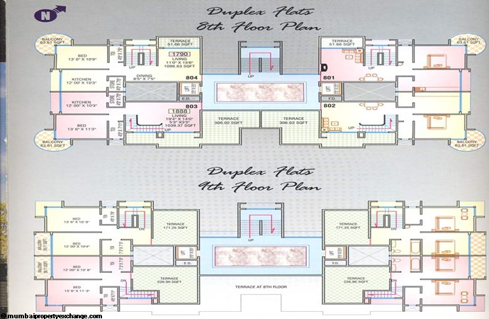 Sea Queen Plaza Duplex floor plan