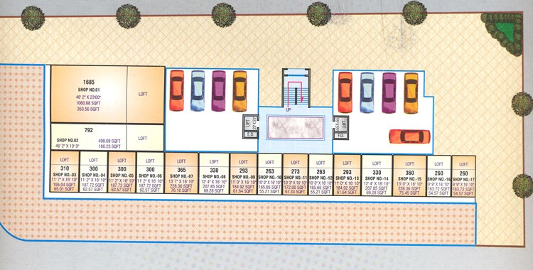 Sea Queen Plaza Ground Floor Plan