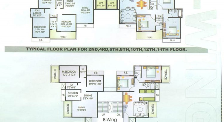 Pride B wing floor plan