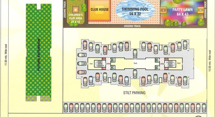 Kamdhenu Eden Garden Ground Floor plan