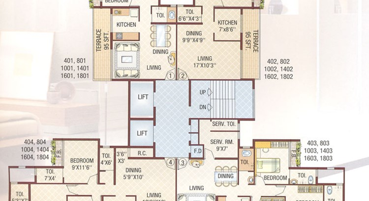 Bhoomi Tower Floor plan