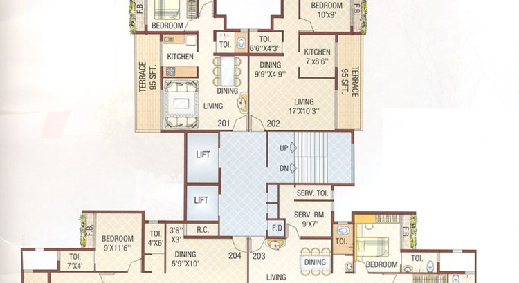 Bhoomi Tower Second Floor Plan