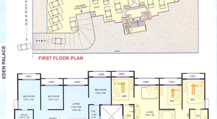 Eden Palace 1 and 2 floor plan