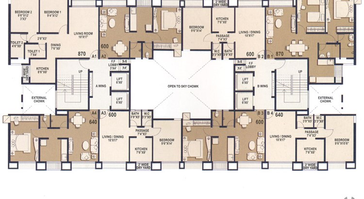 Dwarka floor plan