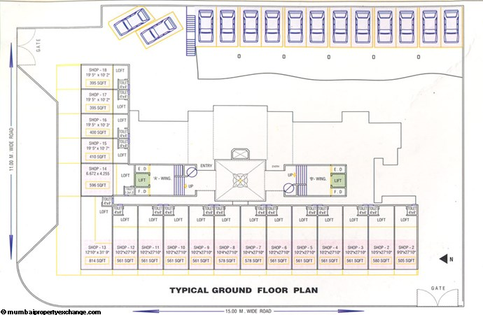Guruvatika Ground Floor Plan