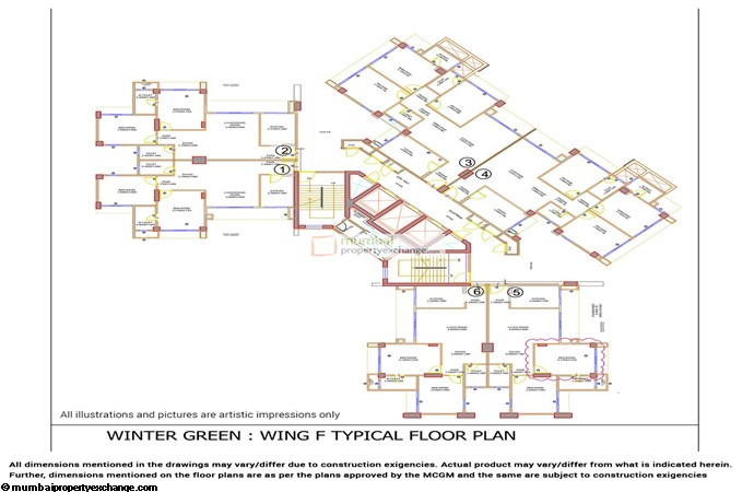 Rivali Park Phase 1B F Wing Floor plan