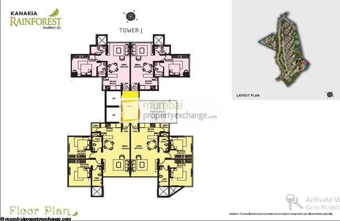 Kanakia Rainforest Parana J Floor Plan