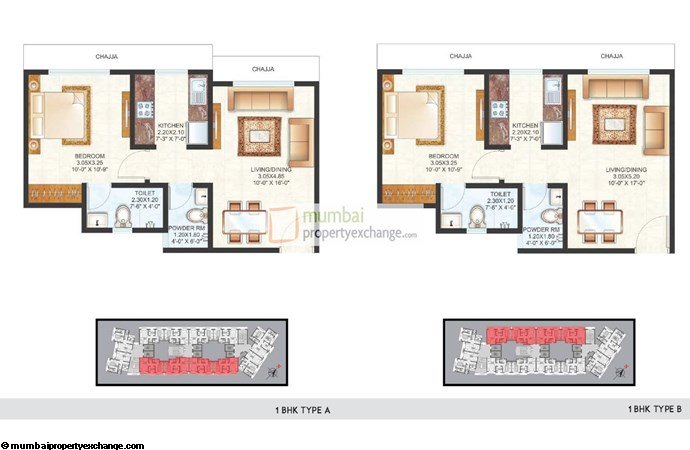 Raunak Centrum 1BHK