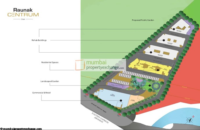 Raunak Centrum Layout Plan