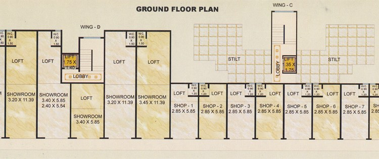 Balaji Empire  Ground Floor Plan