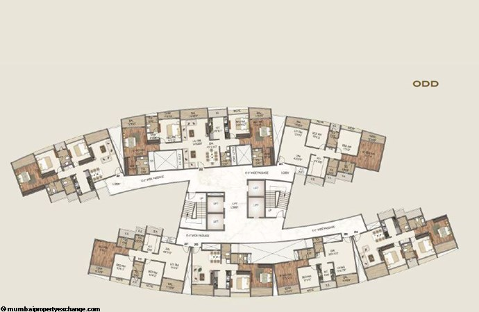 Sai World Empire Sai World Empire Napolean-Caesar Odd Typical Floor Plan