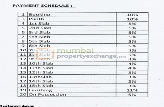 Amrut Siddhi  Payment Schedule