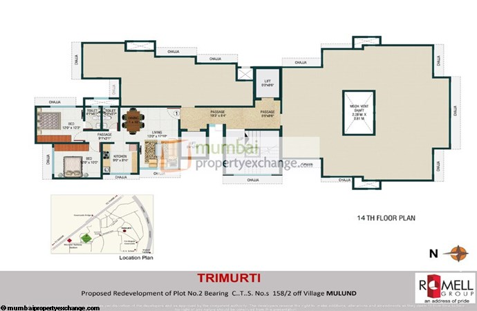 Romell Trimurti 14th Floor Plan