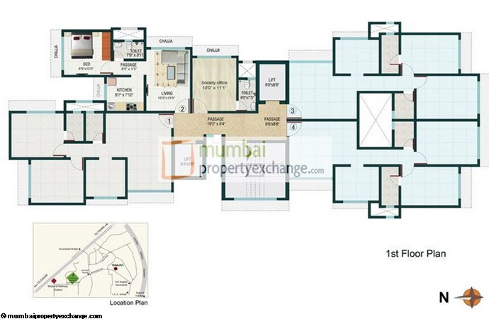 Romell Trimurti 1st Floor plan