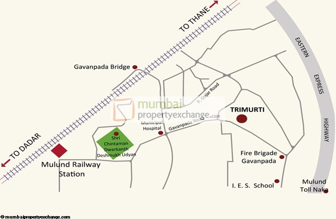 Romell Trimurti Location plan