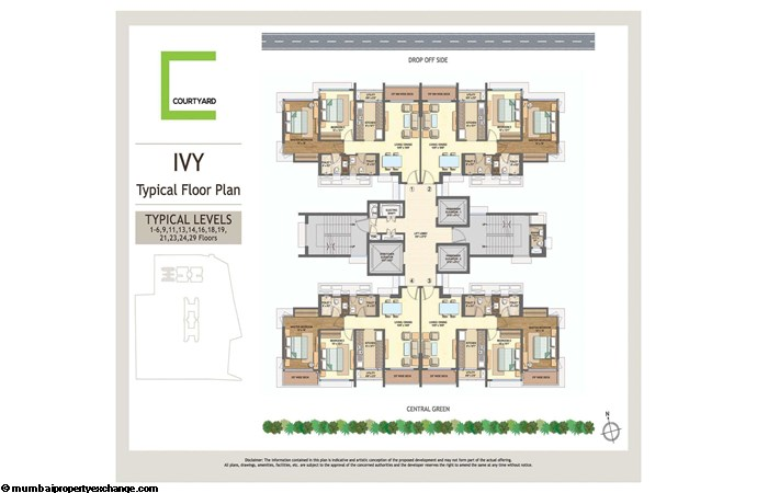 Wadhwa Courtyard  Wadhwa Courtyard Ivy Typical Floor Plan