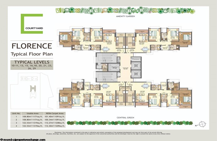 Wadhwa Courtyard   Wadhwa Courtyard Florence Typical Floor Plan