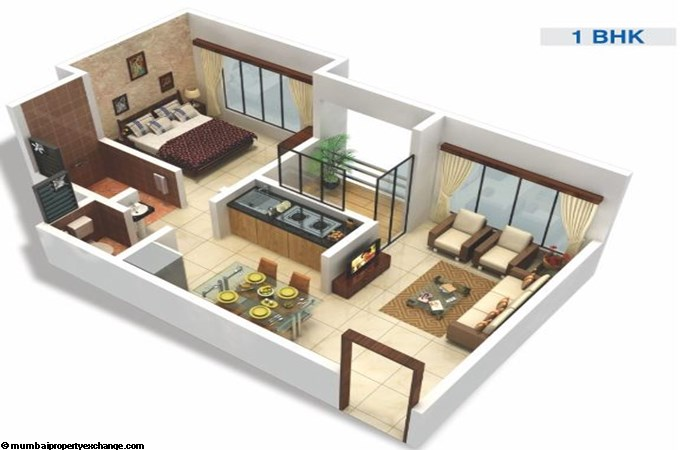 Viva City 1BHK plan