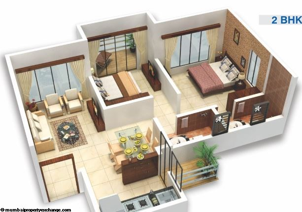 Viva City 2BHK Plan