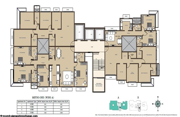 Kabra Metro One Kabra Metro One Wing A Typical Floor Plan