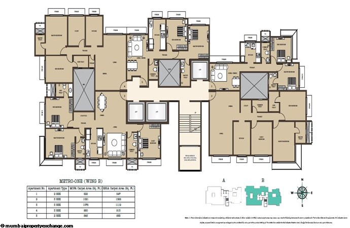 Kabra Metro One Kabra Metro One Wing B Typical Floor Plan