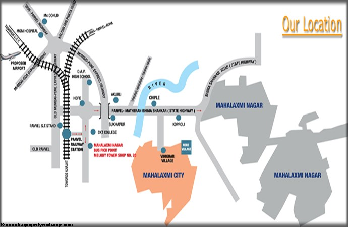 Mahalaxmi City  Location Map