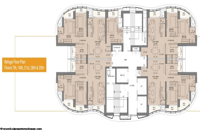 Sunteck City Avenue 1 Avenue 1 Typical Floor Plan 2