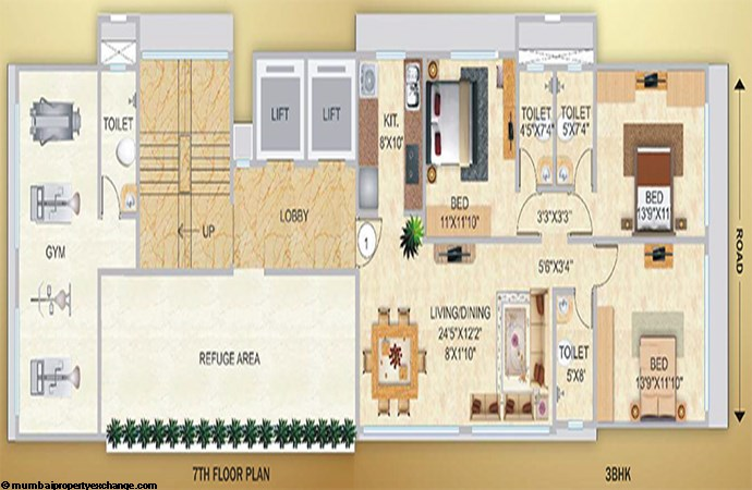 Kool Breeze Floor plan